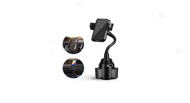 cup and phone holder for car
