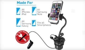 macally adjustable automobile cup holder for mobile device